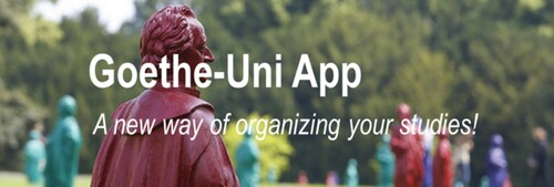 Goethe uni app front page new